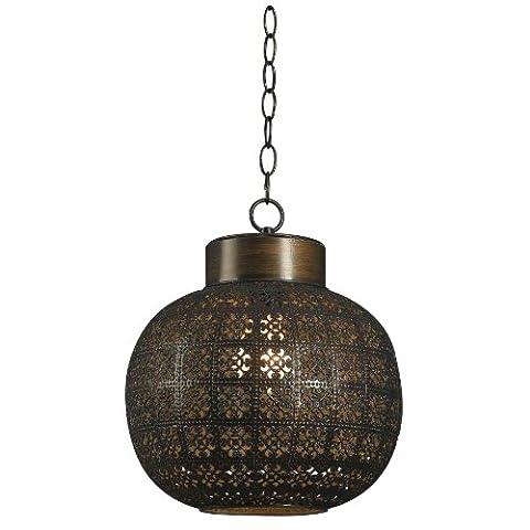 Kenroy Home Kenroy Home 92055ABR Seville 1 -Light Mini Pendant - Nickel Lantern Pendant