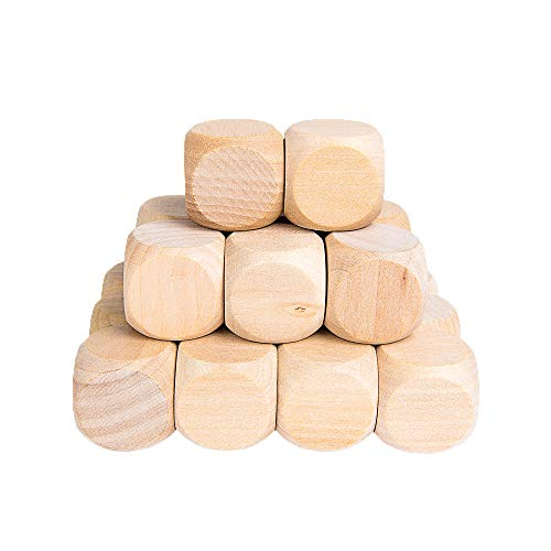 - Wooden Cubes Crafts, Blank Dice Set, Wood Square Blocks for Puzzle Making, Crafts and DIY, Set of 20