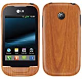 LG Optimus Net Screen Protector + Light Wood Full Body, Skinomi TechSkin Light Wood Skin for LG Optimus Net with Anti-Bubble Clear Film Screen