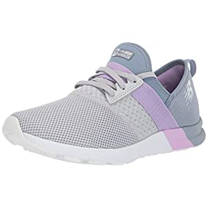 New Balance Women's FuelCore Nergize V1 Sneaker, Light Aluminum/Reflection/Dark Violet, 7.5 D US