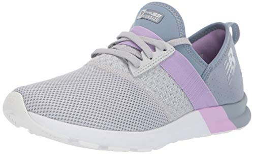 New Balance Women's FuelCore Nergize V1 Sneaker, Light Aluminum/Reflection/Dark Violet, 8.5 B US