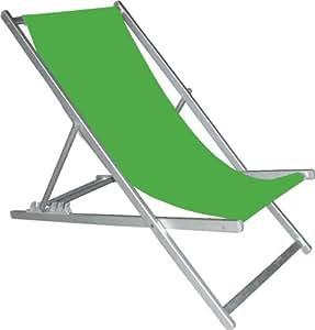 Silla tumbona Spiaggina playa piscina verde Papillon cm 119x 65x H84
