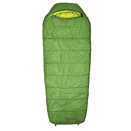 Eureka! Lone Pine 20-Degree Regular Length Semi-Rectangular Mummy Sleeping Bag, Three-Season, Green