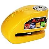 XENA (XX10-Y) Disc-Lock Alarm for Motorcycle , Yellow, Steel