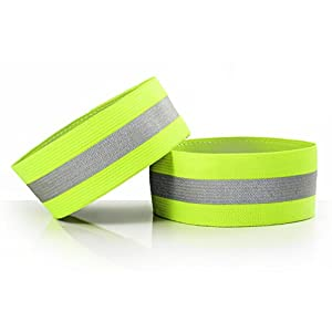 High Visibility Reflective Ankle Strap - Road ID Ankle Bands - Perfect for Runners, Walkers, Cyclists and as Bike Pant Leg Straps