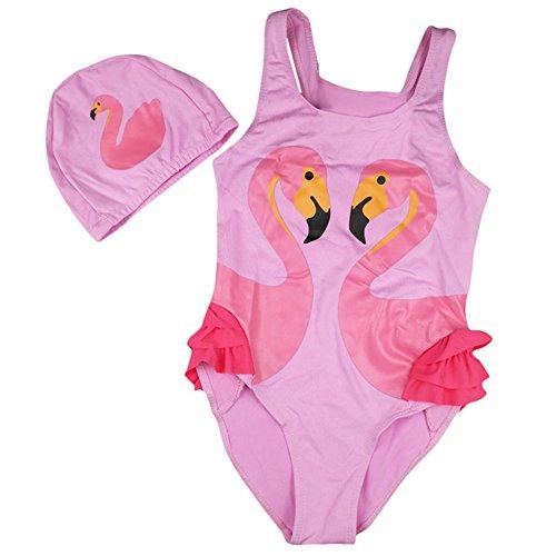 LORVIES Womens Pink Flamingo Bikini Swimsuit Tie Side Padded Bikini Swimwear Two Pieces Bathing Suit