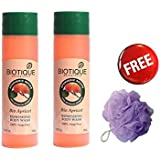 Biotique Body Wash - Pack Of 2 + Free Vega Ba - 3/12 (Single Sponge)