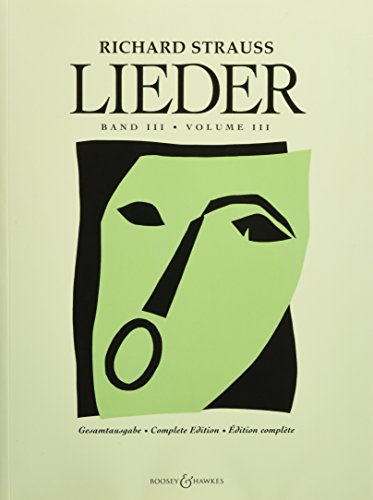 RICHARD STRAUSS LIEDER VOL3  OP69 THROUGH OP88            VOICE PIANO by Brand: Boosey and Hawkes
