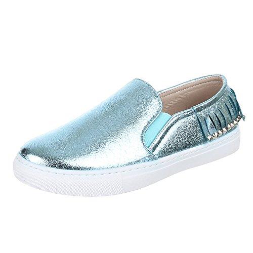 Slipper Damen Hellblau Halbschuhe Y Ital Design 2313 Schuhe aP11q4