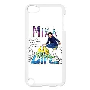 MIKA vivir su vida funda iPod Touch 5 funda de casos cubren blanco, funda iPod Touch 5 funda caso de la cubierta blanca