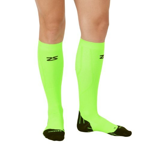 Zensah Tech+ Compression Socks, Neon Green, X-Large by Zensah