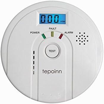 tepoinn monóxido de carbono Detector CO Alarma de humo y alarma con Pantalla Digital elektroc hemische Co Sensor, pantalla digital, alerta de voz, ...