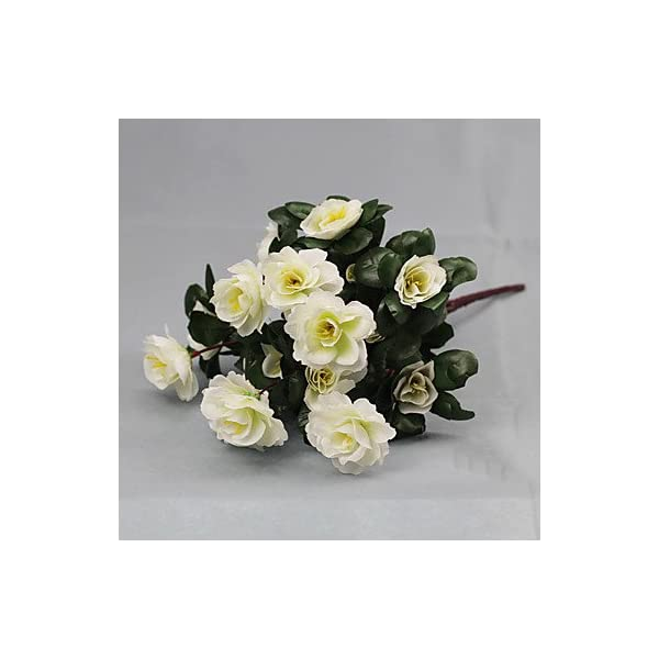 CLG-FLY-Artificial-Flower-Bright-Color-Rhododendron-Silk-Flower-for-Wedding-and-DecorativeWhite794