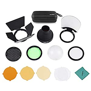 Godox AK-R1 Accessories Kit for Godox AD200 and AD200 Pro (wiith H200R*), Godox V1 Series Flashes (Direct) and with S-R1* for Regular Flashes (H200R and S-R1 Sold Separately)