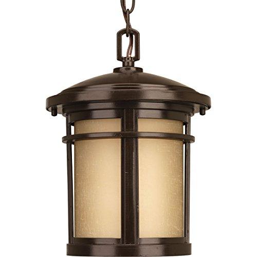 Dark Bronze Outdoor Hanging (Progress Lighting P6524-2030K9 1-17W LED  Hanging Lantern, Antique Bronze)