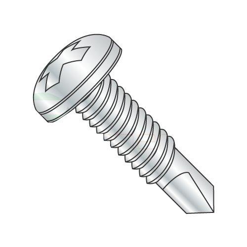 12-24 x 1'' Self-Drilling Screws/Phillips/Pan Head/Steel/Zinc / #3 Drill Point/Machine Screw Thread (Carton: 3,500 pcs) by Newport Fasteners