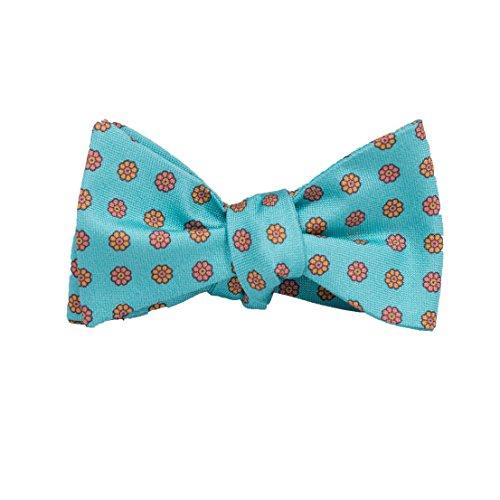(Peter-Blair Men's Aqua Camden 100% Silk Bow Tie Handmade in USA (39CDA1BT))