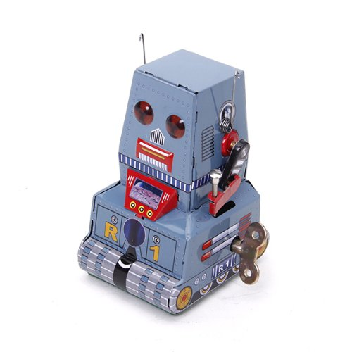 Wind Up Tank Robot Toy Collectible Gift w/ Key Generic 15008567