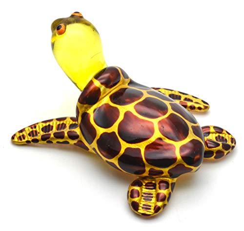 (Zoo Craft Hand Blown Glass Figurine Cute Turtle Handmade Miniature Animal Art)
