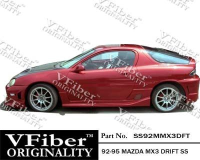 1992-1995 Mazda MX3 HB Body Kit Drift Side Skirt (Drift Vfiber)