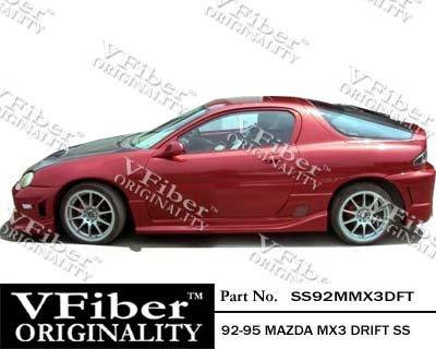 (1992-1995 Mazda MX3 HB Body Kit Drift Side Skirt)