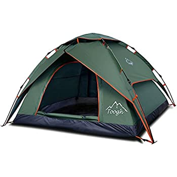 2-3 Person C&ing Tent - Toogh 4 Season Backpacking Tent Automatic Instant Pop Up  sc 1 st  Amazon.com & Amazon.com : 2-3 Person Camping Tent - Toogh 4 Season Backpacking ...