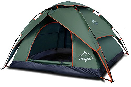 2-3 Person Camping Tent - Toogh 3 Season Backpacking Tent Automatic Instant Pop Up Tent for Outdoor Sports