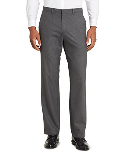 Calvin Klein Men's Infinite Slim Fit Trouser Suit Pant 4-Way Stretch, Iron Gate, 38W 34L