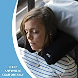 Lewis N. Clark Original Neckrest Inflatable Pillow, Waterproof Neck Pillow for Neck Support at the Beach, Pool + Airport Travel with Fully Adjustable Firmness and Included Carrying Pouch, Black
