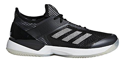 adidas Women's Adizero Ubersonic 3 w Clay Tennis Shoe, White/core Black, 8 M US