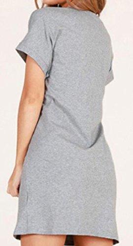 Jaycargogo Dress 3 Shirt T Shirt Sleeve Short Line Elegant Dress with Casual Womens Belt rROTvqr