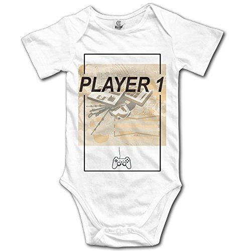 Price comparison product image PiggyWiggy Matching Family Player 1 Vintage Video Game Lovely Short Sleeve Baby Boy Clothes Jumpsuit Unisex