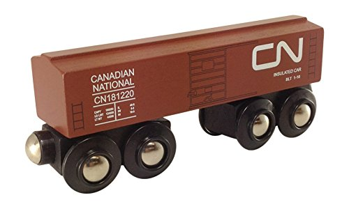 - Canadian National Boxcar magnetic wooden train