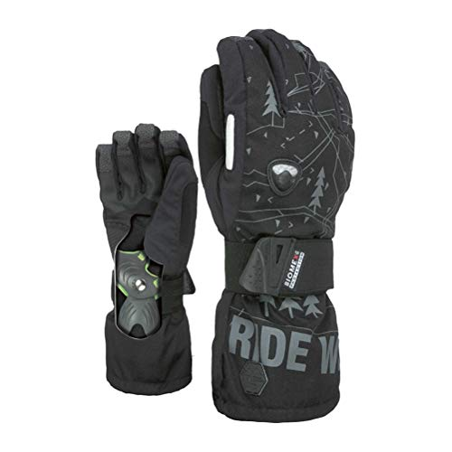 Fly Gloves Snowboard Level - Level Fly Snowboard Gloves with BioMex Wrist Guard - Black/Grey (9.0/L)