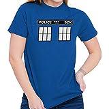 Brisco Brands Police Box Doctor Cybermen Time Travel Tee T-Shirt