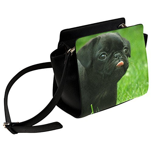 InterestPrint Pug Puppy Dog Women Shoulder Bag Satchel Bag Purse - PU ()