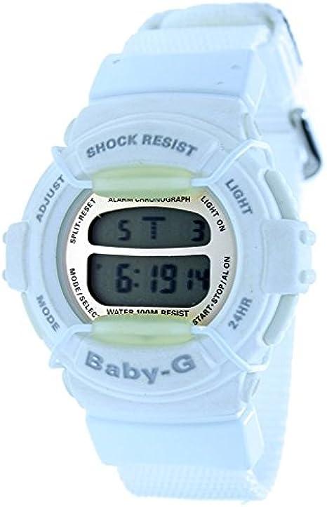 CASIO BG-320B-7V - Reloj digital de mujer BABY-G - Crono Alarma Sumergible - Color Blanco: Amazon.es: Relojes