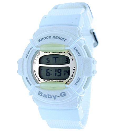 CASIO BG-320B-7V - Reloj digital de mujer BABY-G - Crono Alarma Sumergible - Color Blanco: Amazon.es: Relojes
