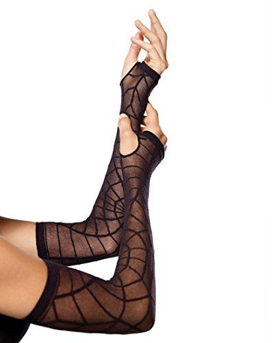 Sheer Spider Web Arm Warmers Costume Accessory
