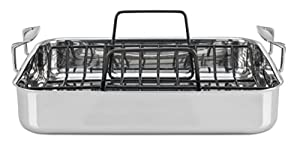 Viking Culinary 4013-9902 3-Ply Stainless Steel Roasting Pan16 Inch by 13 Inch