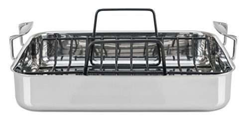 Viking 3 Ply Stainless Steel Roasting Pan With Nonstick