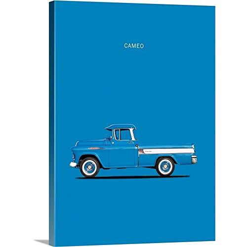 Chevrolet Cameo Pickup 1957 Bl Canvas Wall Art Print, 18
