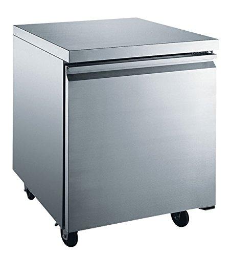 EQ Kitchen Line Stainless Steel 1-Door Undercounter Refrigerator, 27