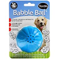 Pet Qwerks Talking Babble Ball Interactive Dog Toys - Wisecracks & Makes Funny Sounds, Electronic Talking Treat Ball That Talks & Makes Noise - Avoids Boredom & Keeps Active   for Large Dogs