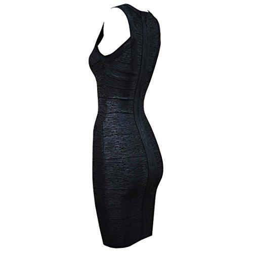 Silber Schwarz HLBCBG Kleid Blau Silber Damen g8qYOvS