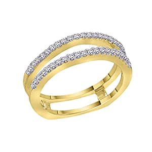 Diamond Ring Guard in 14K Yellow Gold (1/3 cttw)