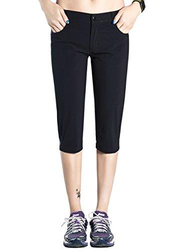Hopgo Women's Quick Dry Outdoor Capri Pants Lightweight Cargo Pants Crop Hiking Pants