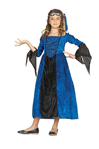 RG Costumes Blue Renaissance Girl Costume, Blue/Black, Large