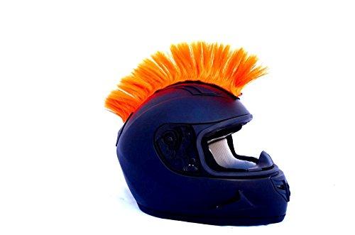 Bright Orange Fluorescent Motorcycle Mohawk Ski Snowboard Helmet Mohawk w/ Sticky Adhesive
