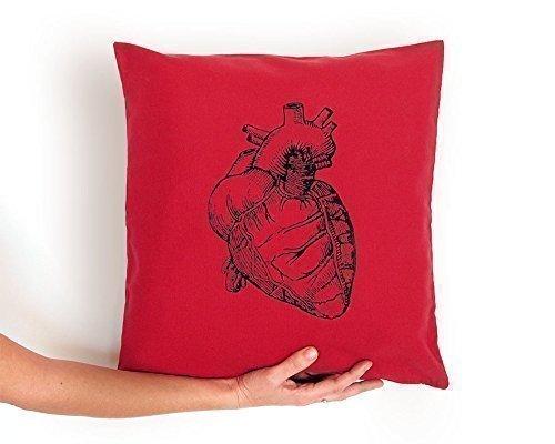 Cojín rojo Corazón Anatómico, regalo amor. Funda de algodón ...